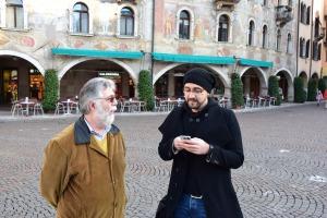 Matteo Bianconi e la nostra guida Fabrizio