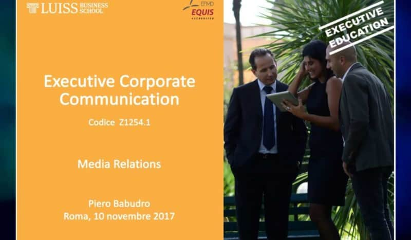 Luiss Business School Master in Executive Corporate Communication