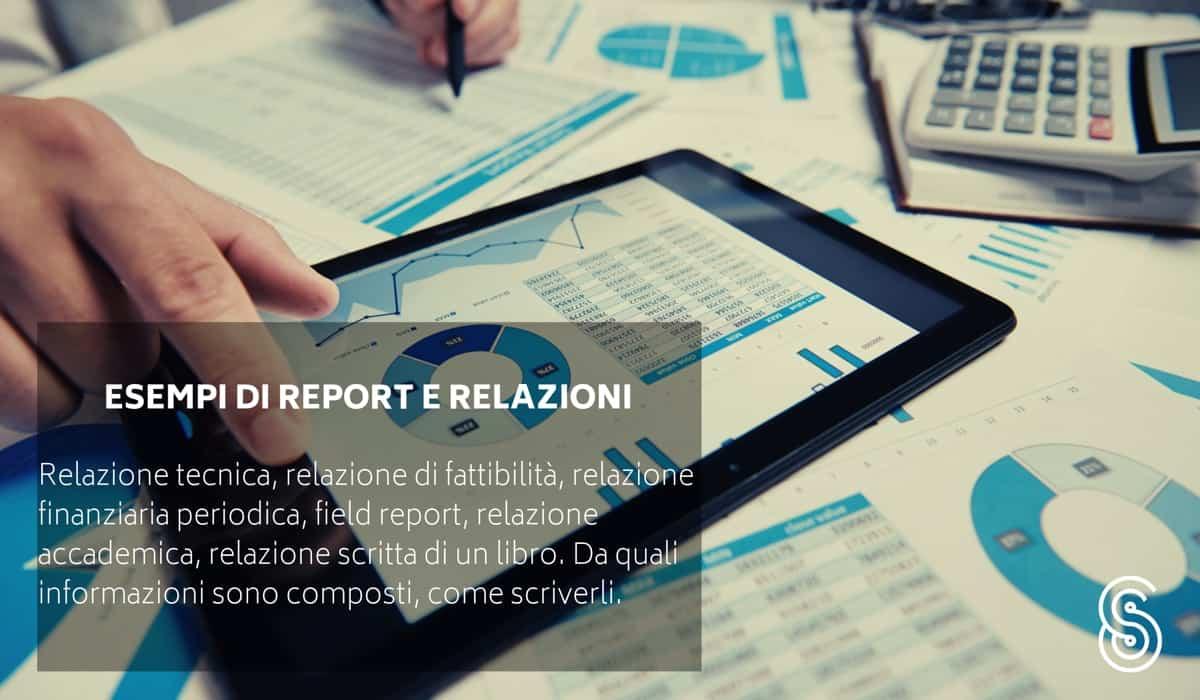 report-relazione-esempio Come fare una relazione
